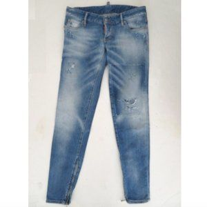 DSQUARED distressed jeans sz 40 ankle zips